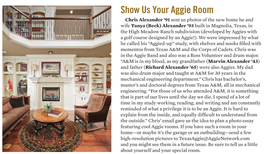 Morning Star Builders in Texas Aggie Magazine