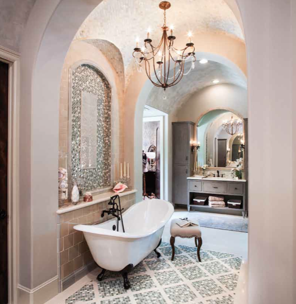 master bath of luxury home in Houston TX, Master bath suite by Morning Star Builders of Houston