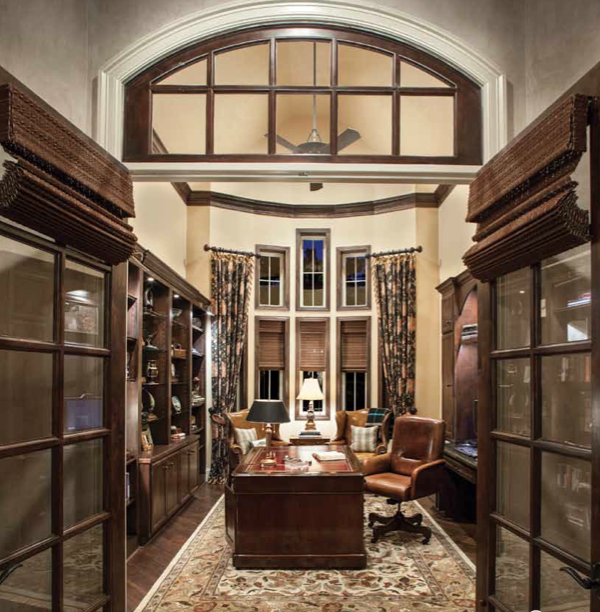 Office of luxury home in Houston, Morning Star Builders