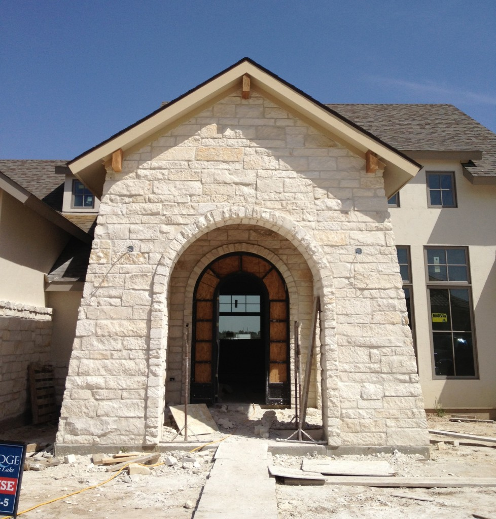 front portico in Houston Southern Living Showcase home