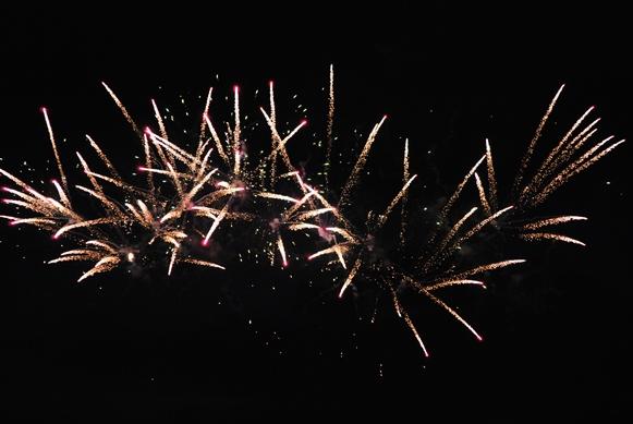 Fireworks display at Towne Lake