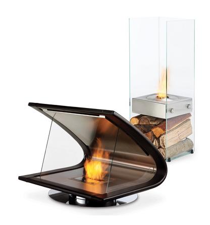 High tech fireplace