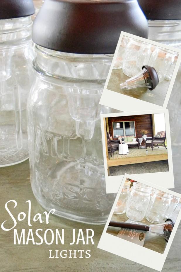 solar pathway lights in mason jars