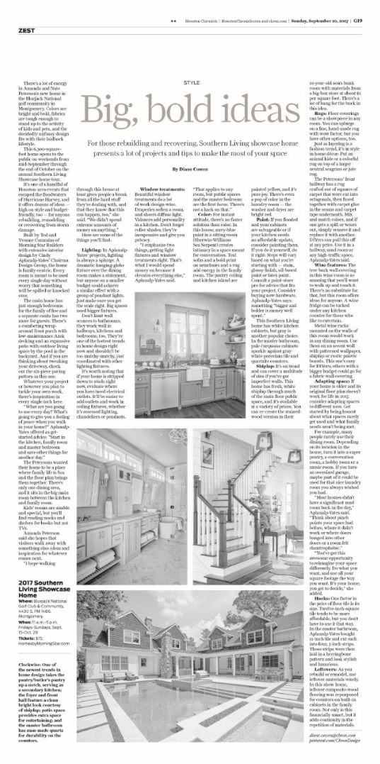 Southern Living in Houston Chronicle