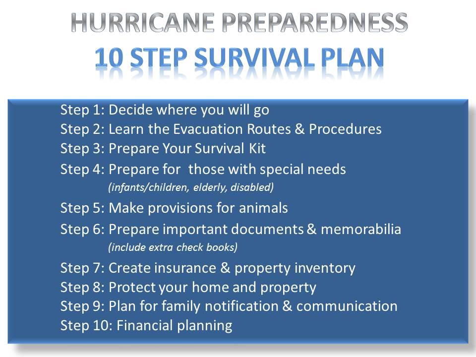 hurricane preparedness 10 step plan