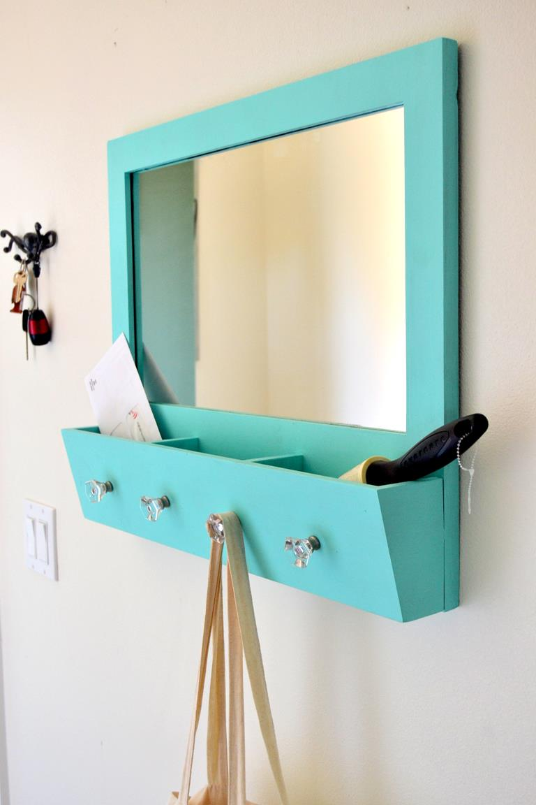 Diy storage ideas anyone can create morning star builders entry way mirror solutioingenieria Image collections