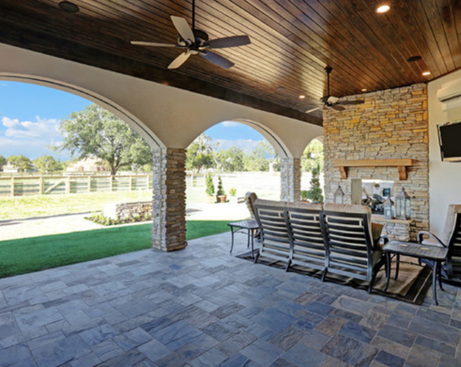 Outdoor Living Spaces For Houston Custom Homes | Morning ... on Unique Outdoor Living id=14305
