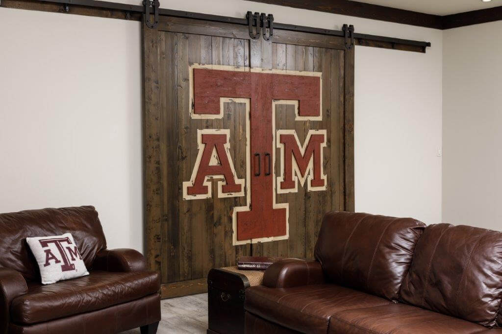 ATM barn doors to game room morning star builders