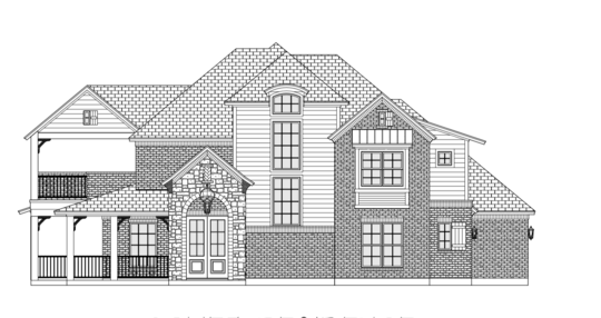 Morning Star Builders Home Under Construction in Montgomery Texas Rendering