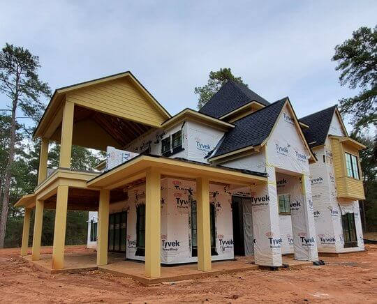 Morning Star Builders Home Under Construction in Montgomery Texas