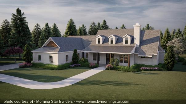 2 Story Modern Farmhouse Rendering