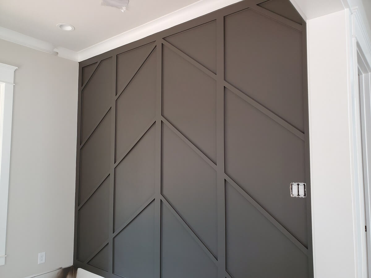 Sherwin williams Urbane Bronze Accent Wall by Morning Star Builders